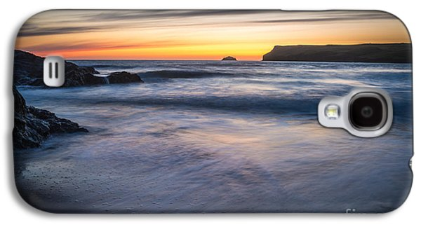 Sun Galaxy S4 Cases - After The Sunset At Polzeath Cornwall Galaxy S4 Case by Amanda And Christopher Elwell