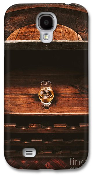 Aged Glass Of Rum On Cellar Barrel Galaxy S4 Case by Jorgo Photography - Wall Art Gallery