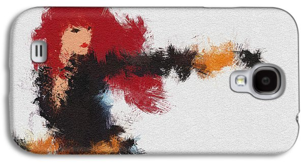 Character Portraits Galaxy S4 Cases - Agent Red Galaxy S4 Case by Miranda Sether