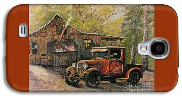 Shed Drawings Galaxy S4 Cases - Agents Visit Galaxy S4 Case by Marilyn Smith