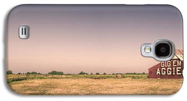 Aggie Barn Panorama Galaxy S4 Case by Joan Carroll
