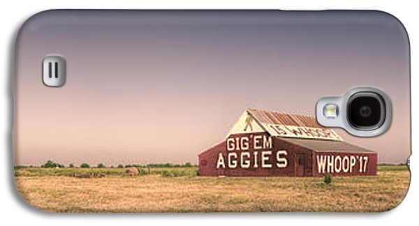 Sec Galaxy S4 Cases - Aggie Barn Panorama Galaxy S4 Case by Joan Carroll