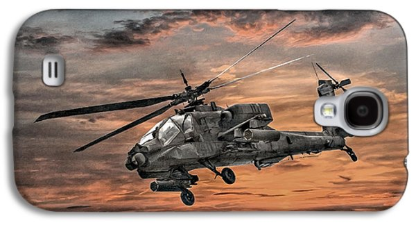 Ah-64 Apache Attack Helicopter Galaxy S4 Case by Randy Steele