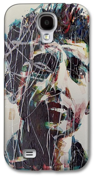Bob Dylan Paintings Galaxy S4 Cases - Aint Gonna Work On Maggies Farm No More  Galaxy S4 Case by Paul Lovering