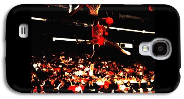 Dunk Mixed Media Galaxy S4 Cases - Air Jordan 1988 Slam Dunk Contest 8c Galaxy S4 Case by Brian Reaves