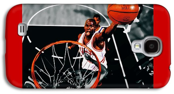 Dunk Mixed Media Galaxy S4 Cases - Air Jordan Above the Rim Galaxy S4 Case by Brian Reaves