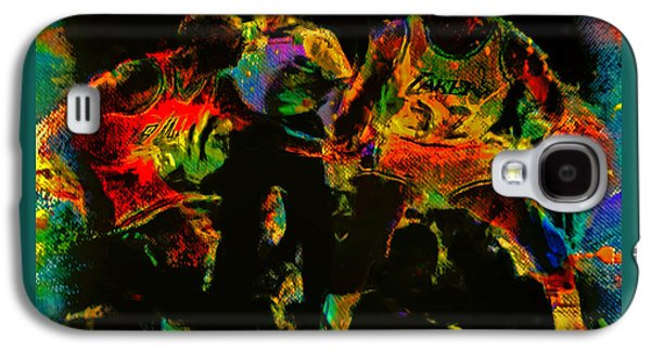 Larry Bird Galaxy S4 Cases - Air Jordan and Magic in the Paint Galaxy S4 Case by Brian Reaves