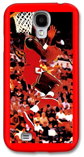 Dunk Mixed Media Galaxy S4 Cases - Air Jordan Cradle Dunk Galaxy S4 Case by Brian Reaves