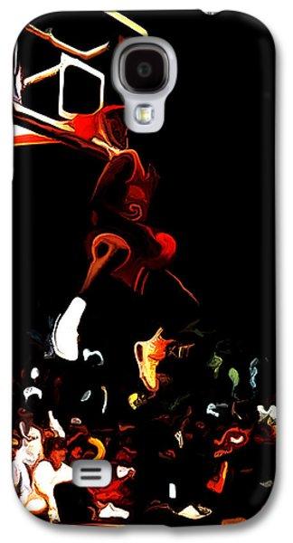 Dunk Mixed Media Galaxy S4 Cases - Air Jordan in Flight 04c Galaxy S4 Case by Brian Reaves
