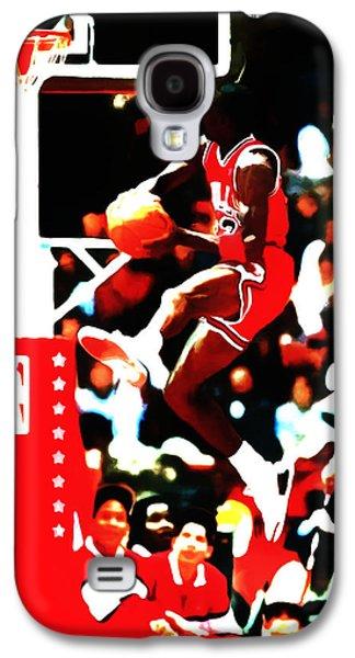 Dunk Mixed Media Galaxy S4 Cases - Air Jordan in Flight 5b Galaxy S4 Case by Brian Reaves