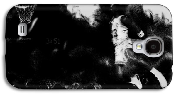 Patrick Ewing Paintings Galaxy S4 Cases - Air Jordan in Flight II Galaxy S4 Case by Brian Reaves