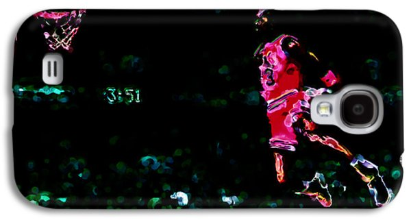Slam Galaxy S4 Cases - Air Jordan in Flight Thermal Galaxy S4 Case by Brian Reaves