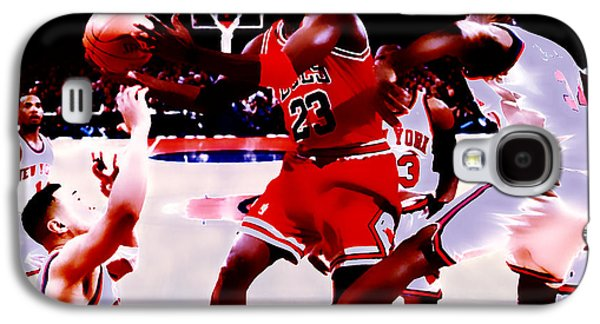 Slam Galaxy S4 Cases - Air Jordan in Traffic Galaxy S4 Case by Brian Reaves
