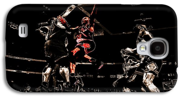 Patrick Ewing Galaxy S4 Cases - Air Jordan Left Hand Galaxy S4 Case by Brian Reaves