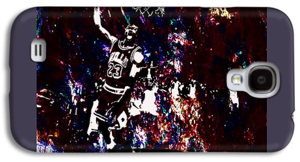 Dunk Mixed Media Galaxy S4 Cases - Air Jordan Slam in the Paint Galaxy S4 Case by Brian Reaves