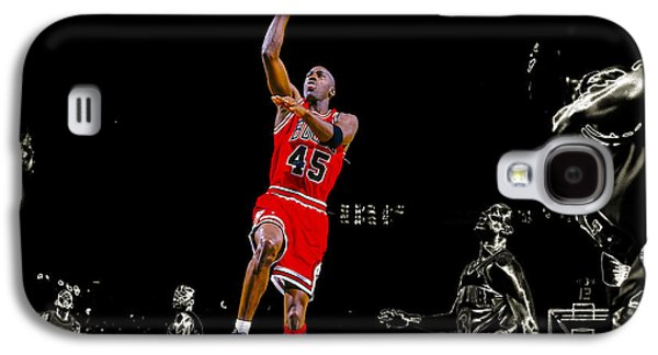 Patrick Ewing Galaxy S4 Cases - Air Jordan Soaring Galaxy S4 Case by Brian Reaves