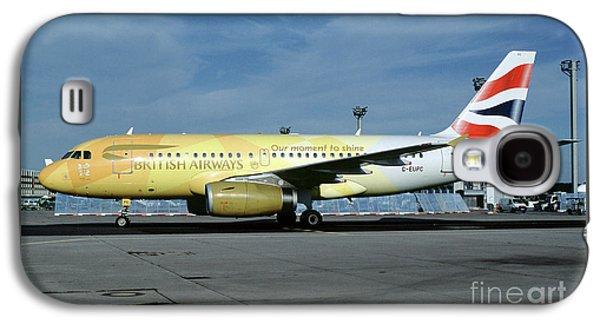 Airbus A319-131, British Airways, G-eupc, Olympic Torch Relay, O Galaxy S4 Case by Wernher Krutein