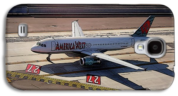 Airbus A320-231 Preparing For Takeoff America West Airlines Galaxy S4 Case by Wernher Krutein