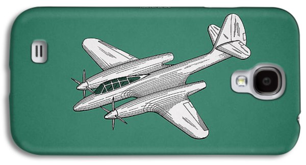 Airplane Photographs Galaxy S4 Cases - Airplane Patent 1942 Galaxy S4 Case by Mark Rogan