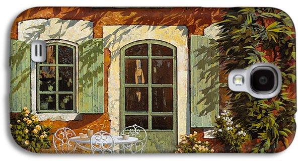 Mediterranean Landscape Galaxy S4 Cases - Al Fresco In Cortile Galaxy S4 Case by Guido Borelli