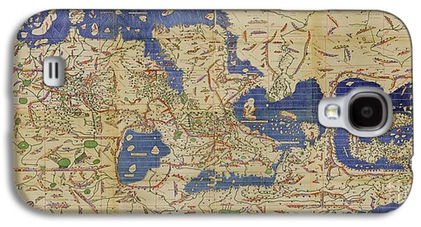 Science Collection - Galaxy S4 Cases - Al Idrisi World Map 1154 Galaxy S4 Case by SPL and Photo Researchers