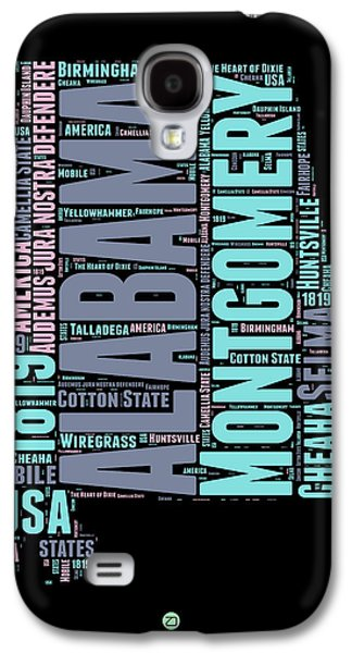 Alabama Word Cloud 1 Galaxy S4 Case by Naxart Studio