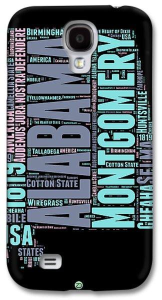 Alabama Galaxy S4 Cases - Alabama Word Cloud 1 Galaxy S4 Case by Naxart Studio