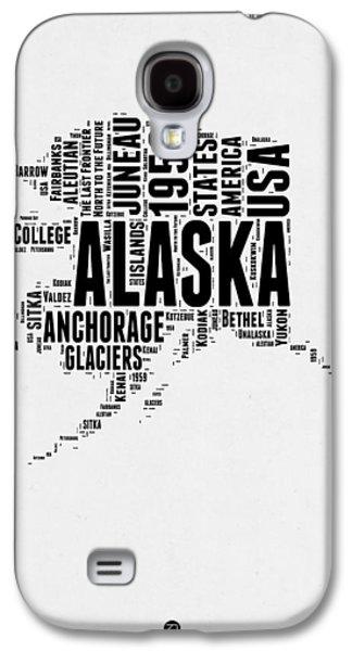 Alaska Word Cloud 2 Galaxy S4 Case by Naxart Studio