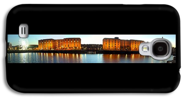 Beatles Galaxy S4 Cases - Albert Dock Liverpool Panorama 2 Galaxy S4 Case by Steve Kearns