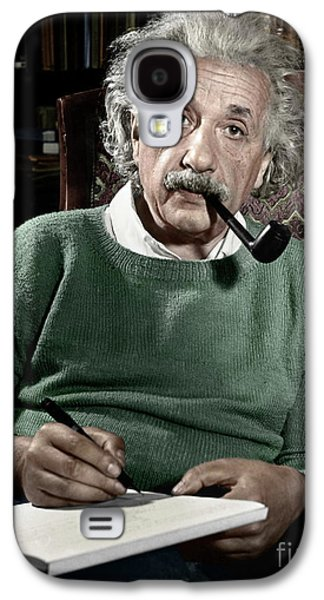 Best Sellers -  - Landmarks Photographs Galaxy S4 Cases - Albert Einstein Galaxy S4 Case by Granger