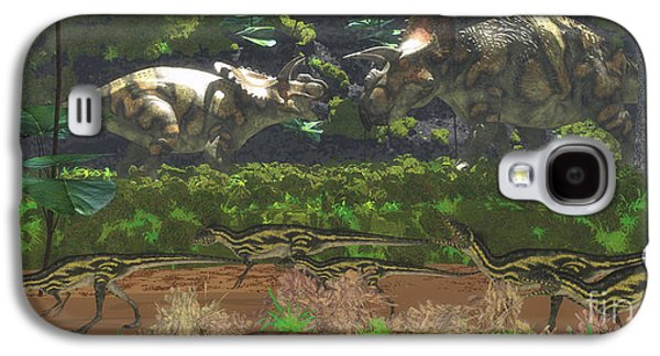 Northern Africa Galaxy S4 Cases - Albertaceratops Disagreement Galaxy S4 Case by Corey Ford