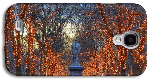 New England Snow Scene Galaxy S4 Cases - Alexander Hamilton on the Commonwealth Galaxy S4 Case by Joann Vitali