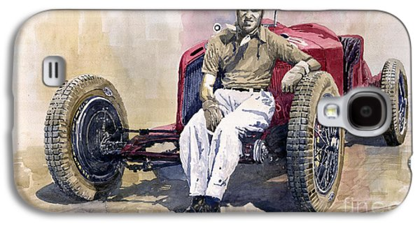 Vintage Galaxy S4 Cases - Alfa Romeo Monza Tazio Nuvolari 1932 Galaxy S4 Case by Yuriy  Shevchuk
