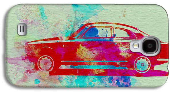 Old Car Drawings Galaxy S4 Cases - Alfa Romeo  Watercolor 2 Galaxy S4 Case by Naxart Studio