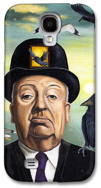 Horror Galaxy S4 Cases - Alfred Hitchcock Galaxy S4 Case by Leah Saulnier The Painting Maniac