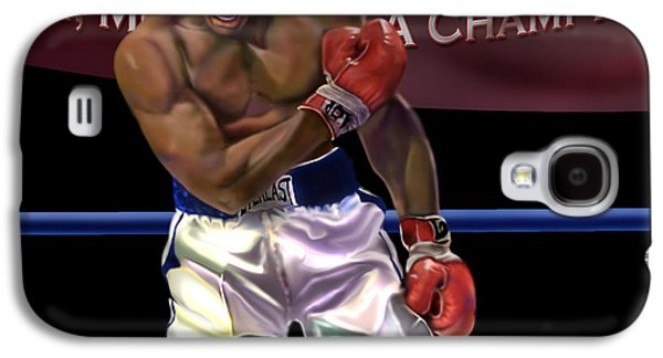 Boxer Galaxy S4 Cases - Ali - More Than A Champion Galaxy S4 Case by Reggie Duffie