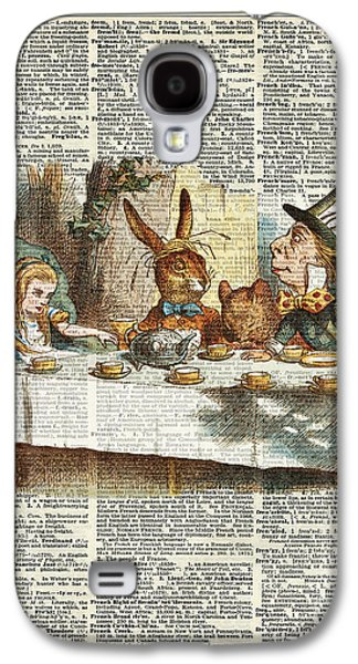 March Hare Galaxy S4 Cases - Alice Morning Tea time Galaxy S4 Case by Jacob Kuch