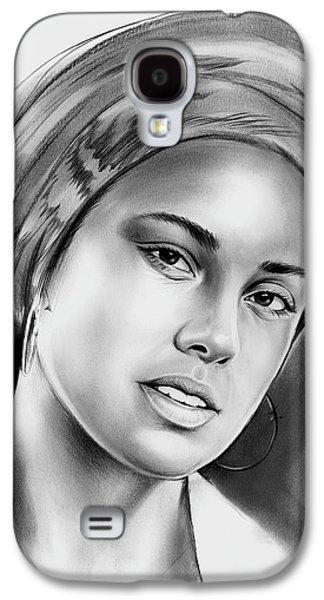 Alicia Keys 2 Galaxy S4 Case by Greg Joens