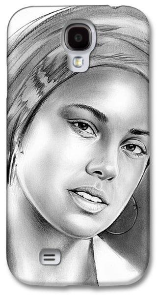 Alicia Keys Galaxy S4 Case by Greg Joens