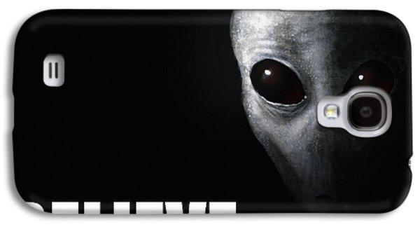 Ufo Galaxy S4 Cases - Alien Grey - Believe Galaxy S4 Case by Pixel Chimp