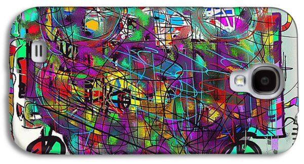 Colorful Abstract Galaxy S4 Cases - Alien Happiness Machine Galaxy S4 Case by Ricardo Mester