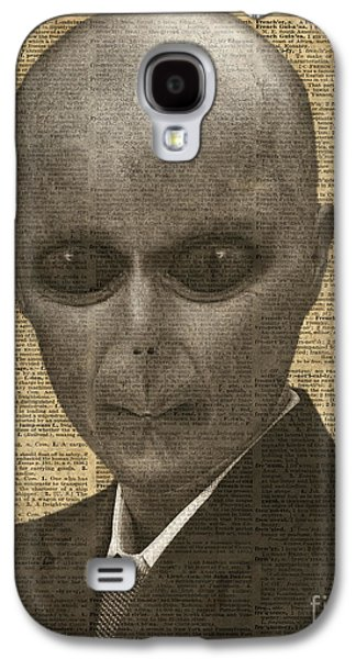 Dismay Galaxy S4 Cases - Alien over Dictionary Page Galaxy S4 Case by Jacob Kuch