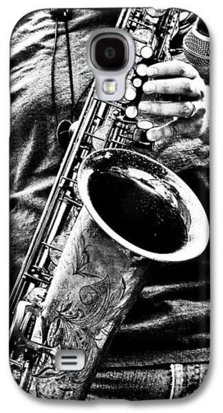 Saxophone Photographs Galaxy S4 Cases - All Blues Man With Jazz On The Side Galaxy S4 Case by Bob Orsillo
