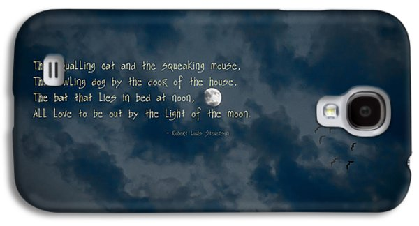 Creepy Galaxy S4 Cases - All Love To Be Out By The Light Of The Moon Galaxy S4 Case by Mick Anderson