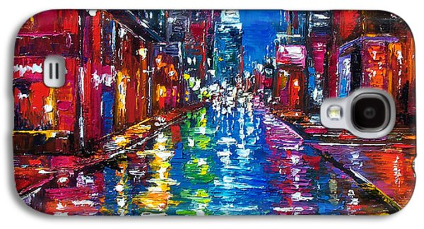 City Scene Galaxy S4 Cases - All Night Long Galaxy S4 Case by Debra Hurd