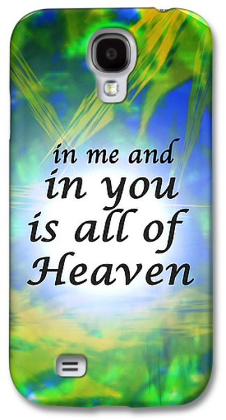 Quaker Digital Galaxy S4 Cases - All of Heaven Galaxy S4 Case by John Vincent Palozzi