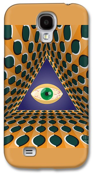 Abstract Movement Galaxy S4 Cases - All-seeing eye Galaxy S4 Case by Yurii Perepadia