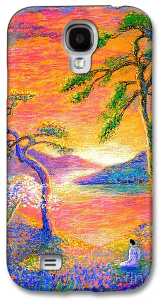 Buddha Meditation, All Things Bright And Beautiful Galaxy S4 Case by Jane Small