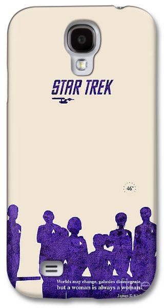 Enterprise Mixed Media Galaxy S4 Cases - All togheter - Purple Star Trek Galaxy S4 Case by Pablo Franchi