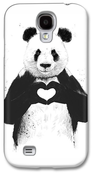 Animals Love Galaxy S4 Cases - All you need is love Galaxy S4 Case by Balazs Solti
